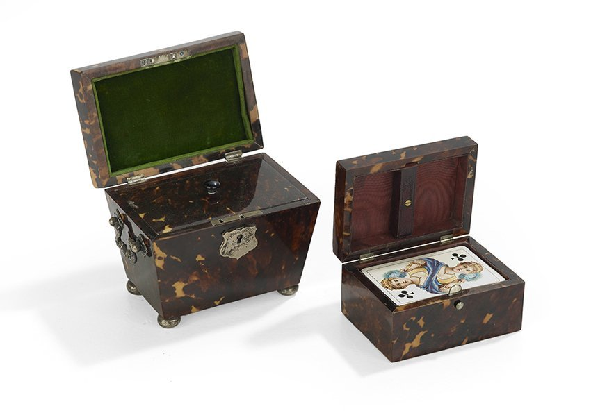 Two Victorian Silver-Mounted Tortoiseshell Boxes - 2