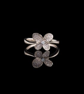 18 Kt. Rose Gold and Diamond Ring