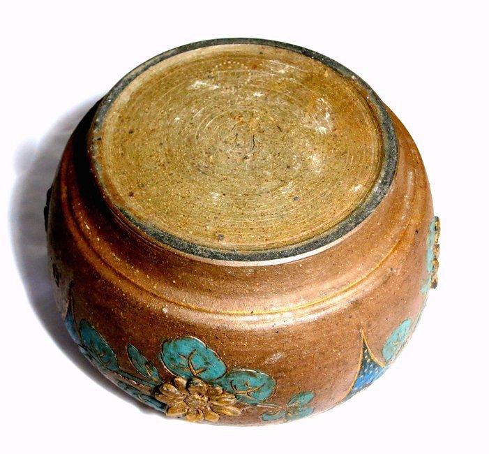 Rare Stoneware and Bronze Japonesque Jardiniere - 5
