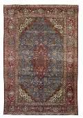 Antique Persian Kashan Silk Carpet
