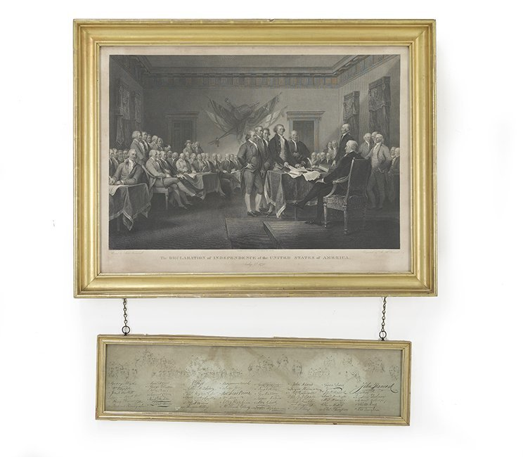 """Engraving of """"The Declaration of Independence"""""""