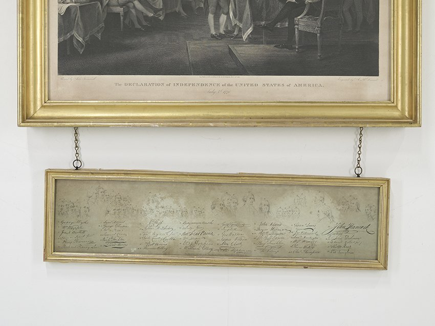 """Engraving of """"The Declaration of Independence"""" - 2"""