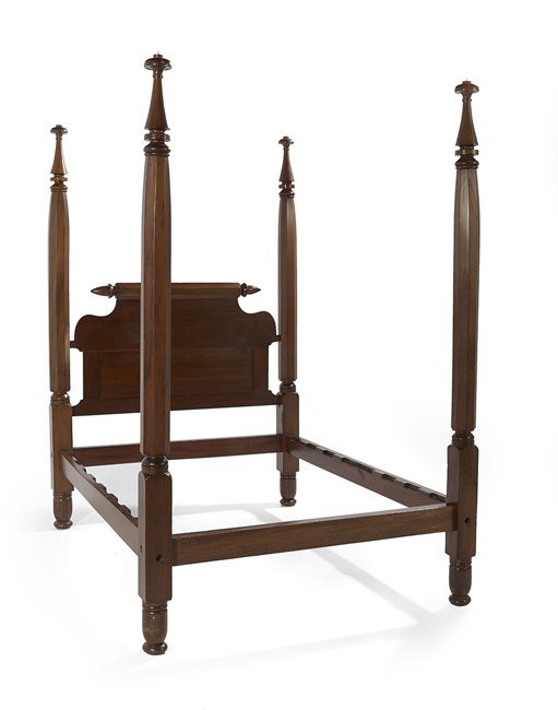 American Antebellum Cherry & Sycamore Tester Bed