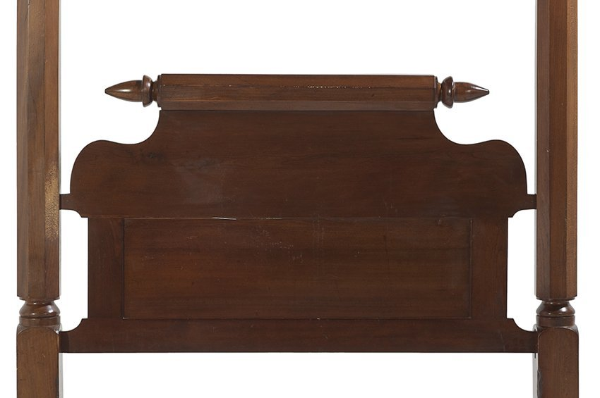 American Antebellum Cherry & Sycamore Tester Bed - 2
