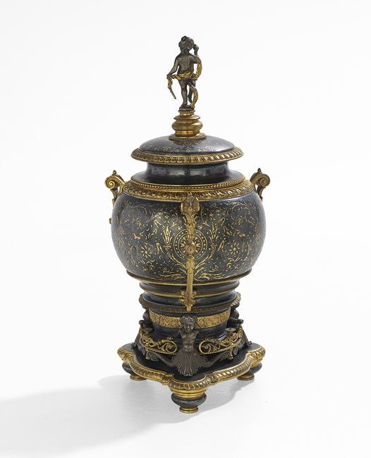 French Renaissance-Style Bronze Covered Urn - 2