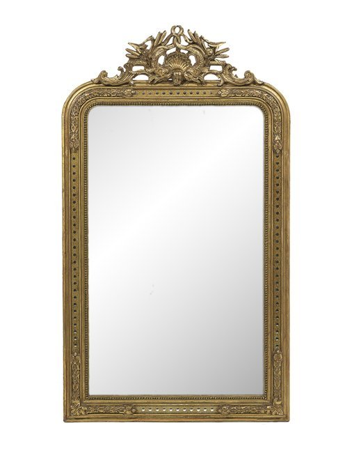 Unusual Napoleon III Giltwood Mirror
