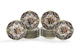 "Bloor Derby ""King's"" Pattern Porcelain Dinnerware"