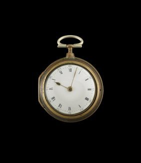 English Tortoiseshell Pair Case Pocket Watch