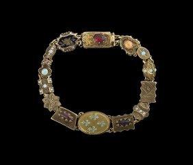 14/10 Kt. Gold and Gold-Filled Slide Bracelet