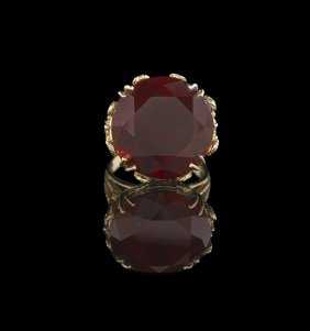 14 Kt. Gold and Almandine Garnet Ring