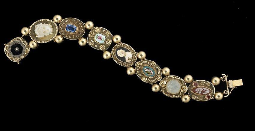 14 Kt. Gold Gem Slide Bracelet