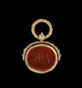 Georgian 18 Kt. Gold and Carnelian Fob Seal