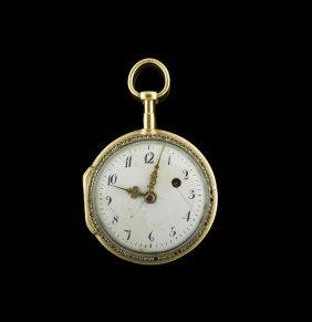 Continental Vermeil, Enamel & Paste Pocket Watch