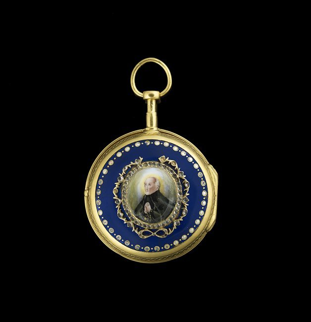 Continental Vermeil, Enamel & Paste Pocket Watch - 2