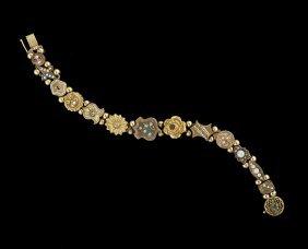 10/14 Kt. Gold and Gold-Filled Slide Bracelet