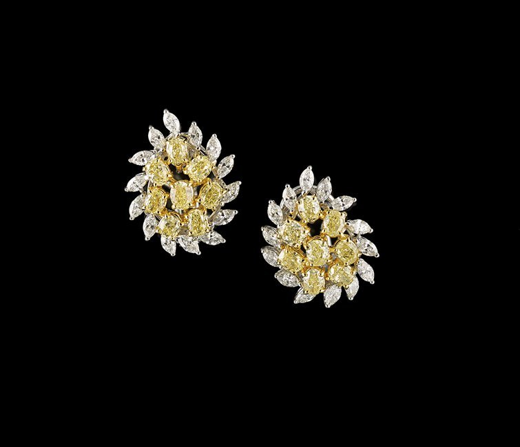 18 Kt. Gold and Diamond Ear Clips