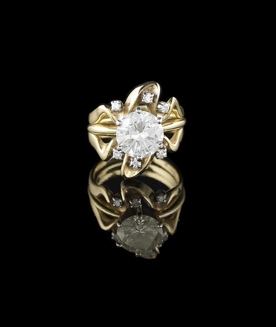 14 Kt. Gold and Diamond Ring