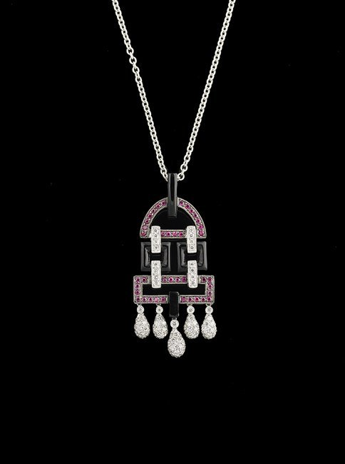 18 Kt. Gold, Ruby and Diamond Pendant