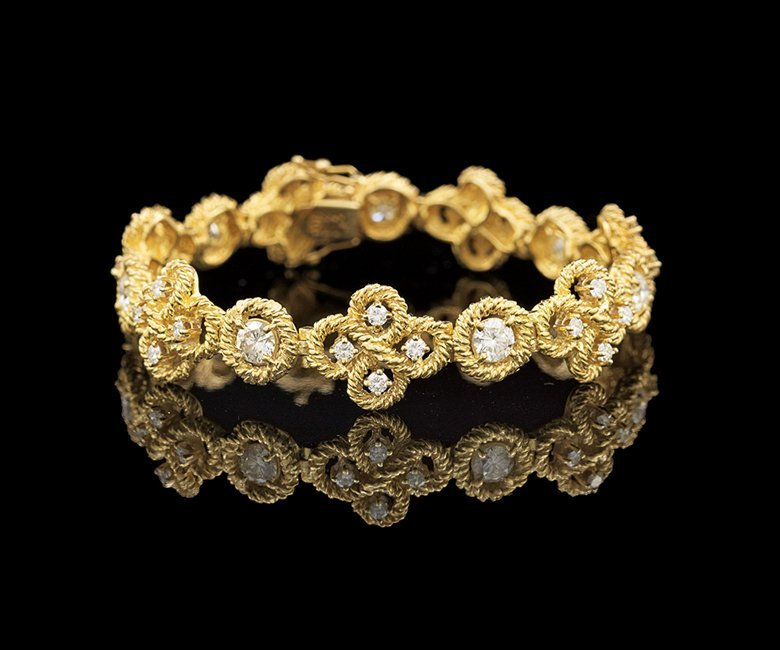 18 Kt. Gold and Diamond Bracelet
