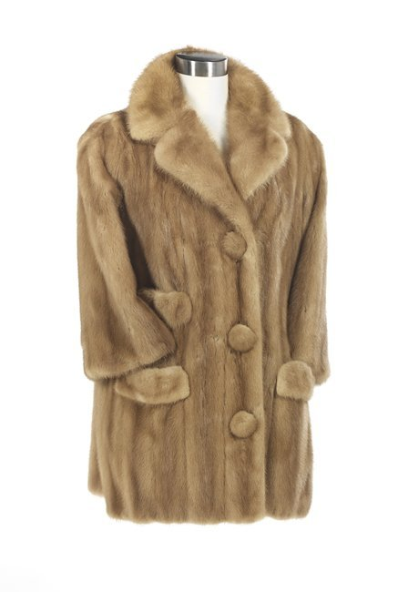 Vintage Blond Mink Three-Quarter Coat