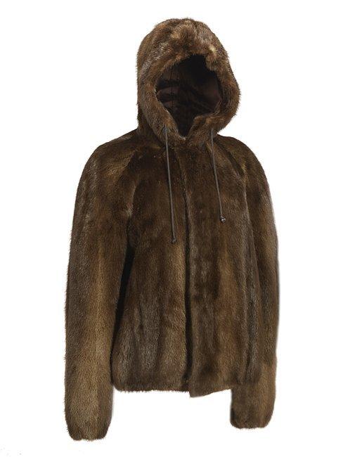 Canadian Brown Otter Hoodie Jacket