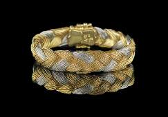 Henry Dunay Platinum and 18 Kt Gold Bracelet