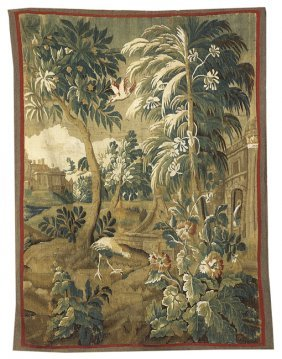 Brussels Hand-Woven Verdure Tapestry