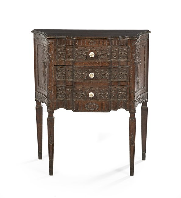 Provincial Louis XVI-Style Oak Commode