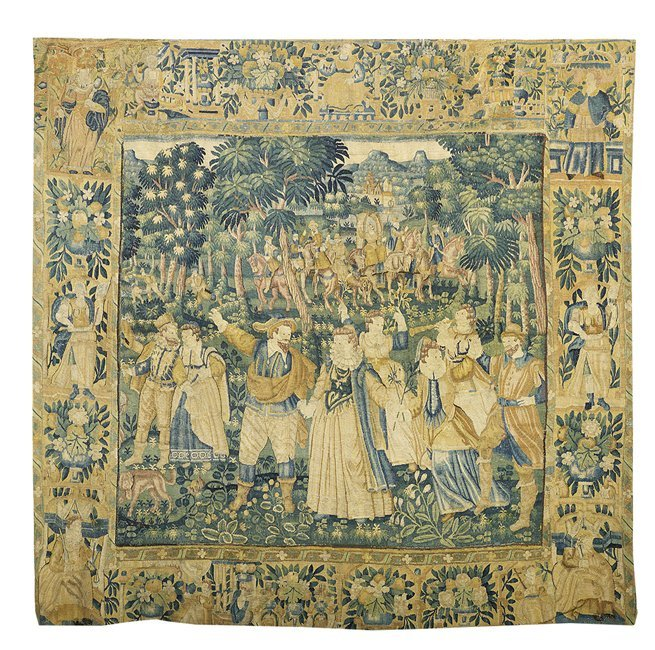 French Hand-Woven Tapestry