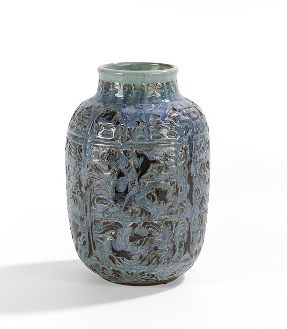 """Shearwater Pottery """"Sea, Earth and Sky"""" Vase"""