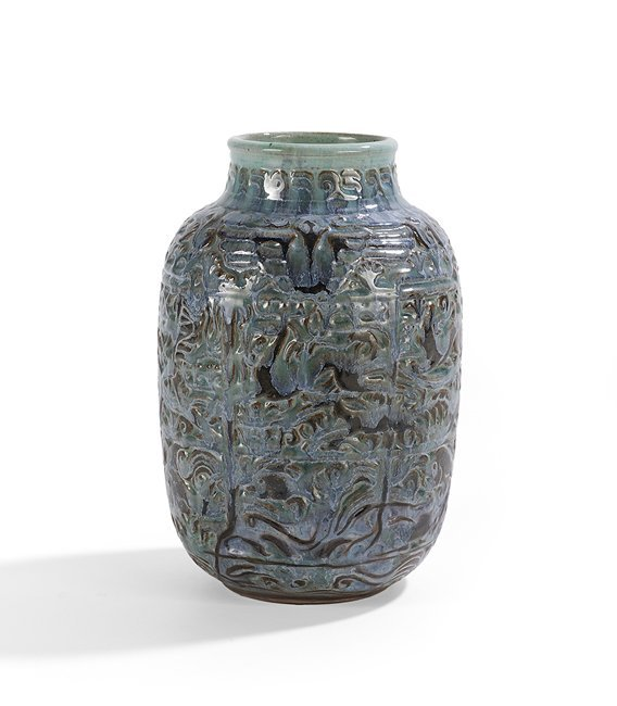 """Shearwater Pottery """"Sea, Earth and Sky"""" Vase - 2"""