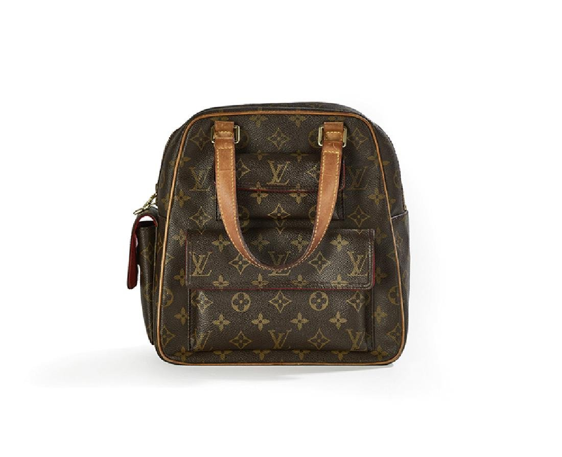 "Louis Vuitton Logo Canvas ""Excentri-Cite"" Handbag"