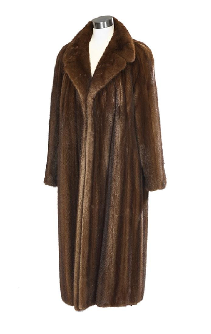 Silvery Brown Lunaraine Mink Coat