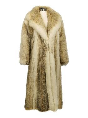 Canadian Coyote and White Fox Full-Length Coat