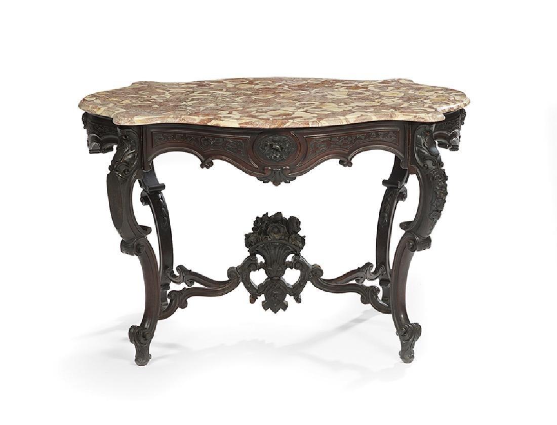 Napoleon III Marble-Top Center Table