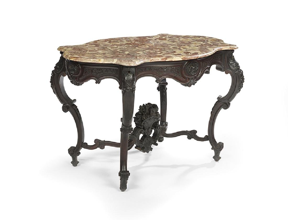 Napoleon III Marble-Top Center Table - 2
