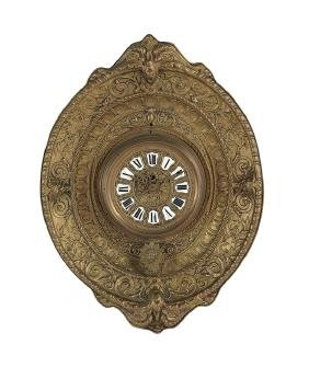 Continental Pressed Brass Wall Clock