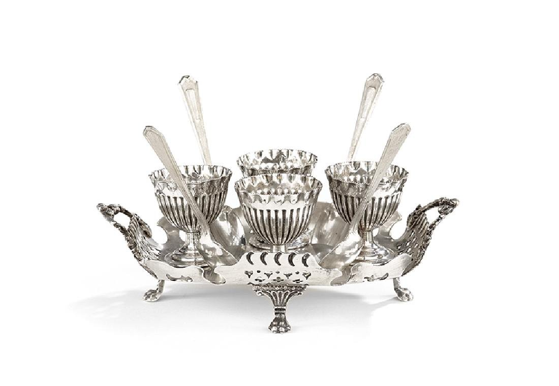 Victorian Silverplate Egg Stand