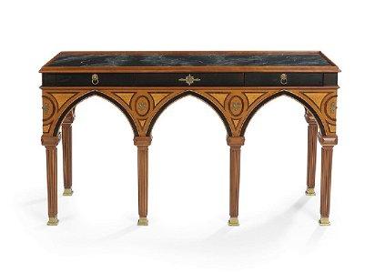 John Widdicomb Ebonized Console Table