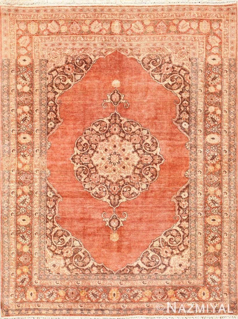 "Antique Persian Tabriz , size 4'7"" x 5'8"""