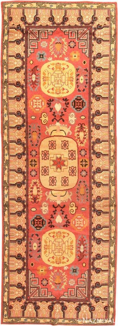 "Antique Khotan , East Turkestan , Size 4'11"" x 11'8"""