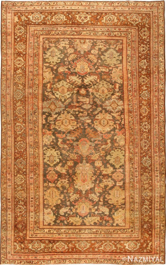 "Antique Persian Sultanabd , Size 7'3""  x 12"