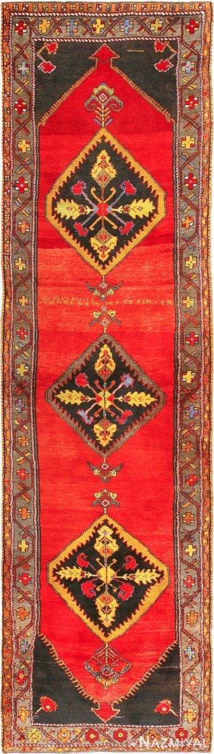 "Antique Turkish Bergama , Size 3'7"" x 13'1"""