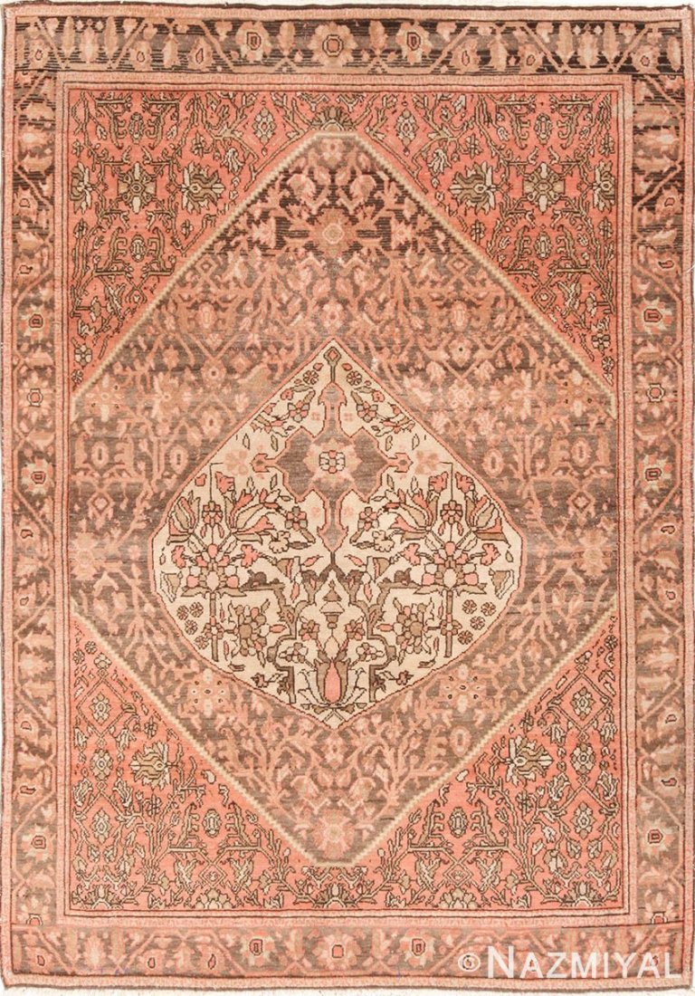 """Antique Persian Malayer , Size 4'4"""" x 6'"""