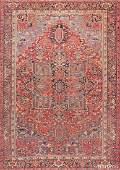 Antique Persian Heriz carpet  Size 10 x 13