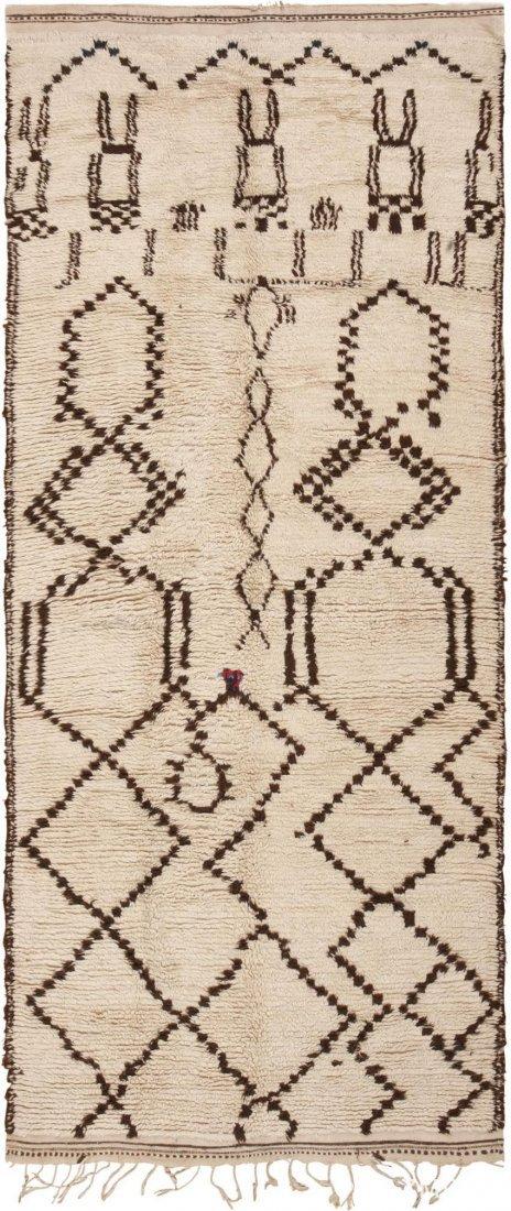 "Vintage Moroccan Carpet , Size is 4'6"" x 10'6"""
