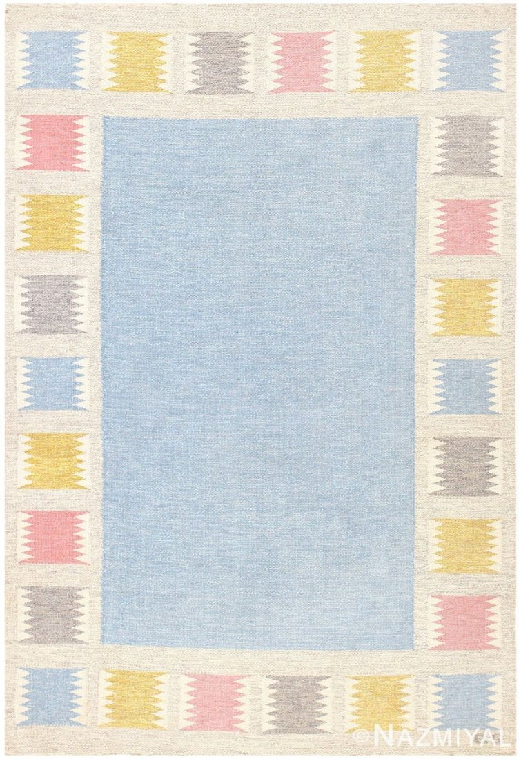 "Vintage Swedish Kilim, Birgitta Soderkvist ,5'5"" x 7'9"""
