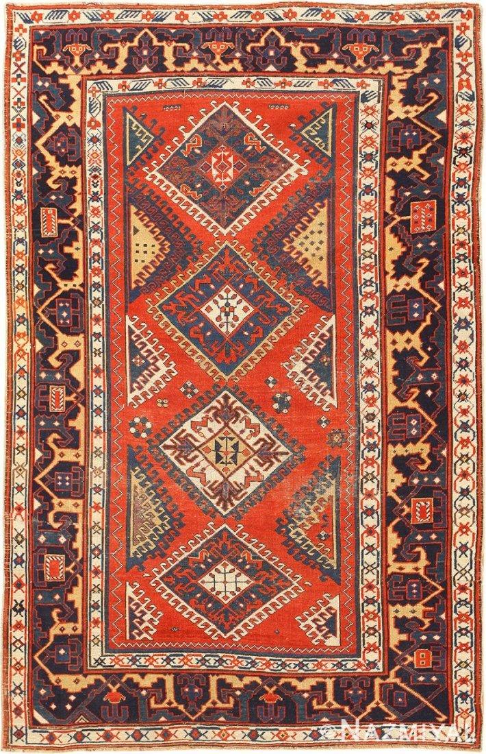 """Antique Caucasian Kazak , 4'8"""" x 7'5"""" ( 1.42 M x 2.26 M"""