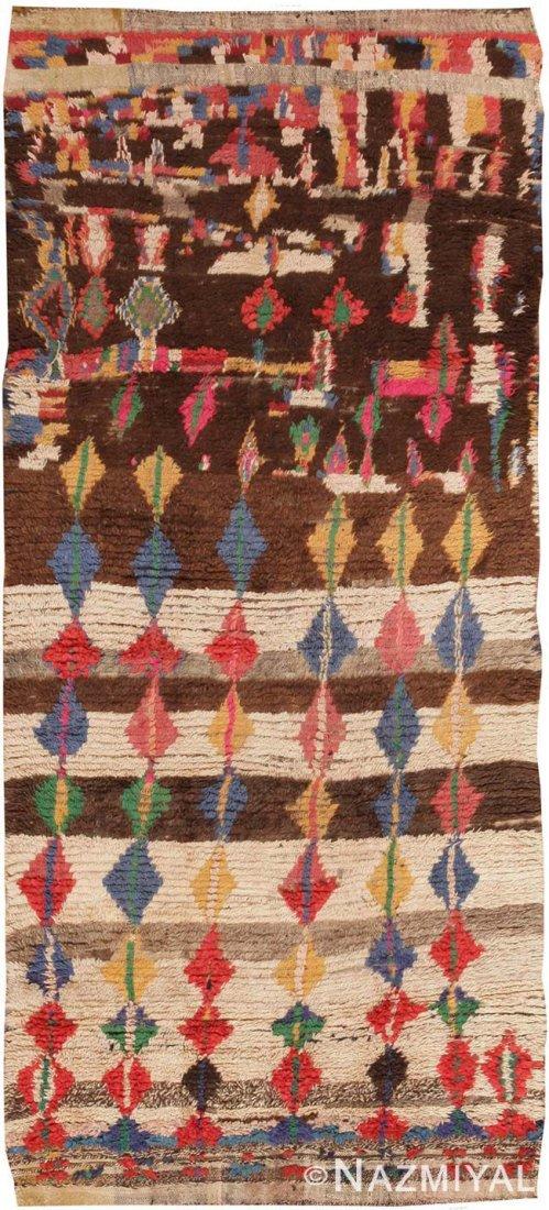 """Vintage Moroccan carpet , 4'9"""" x 10'4"""" ( 1.45 M x 3.15"""