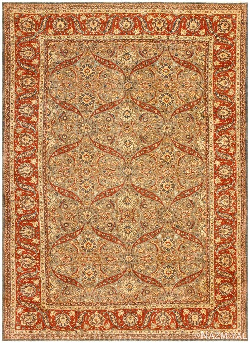 Antique Persian Tabriz , 9' x 12' ( 2.74 M x 3.66 M )